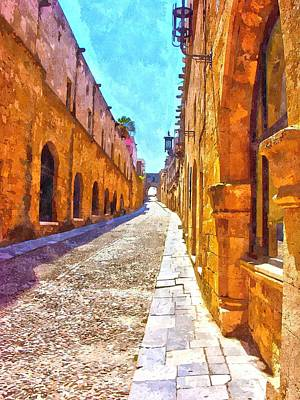The Old Rhodes Town Art Print