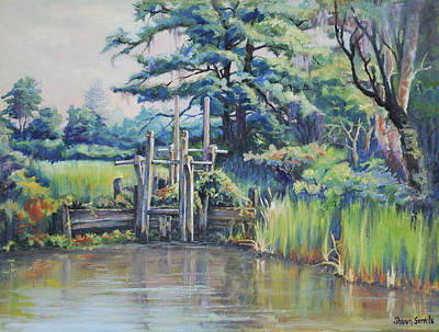 Painting - Old Rice Field Trunk by Sharon Sorrels