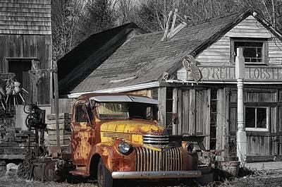 Maine Farms Digital Art - Old Ride by Tricia Marchlik