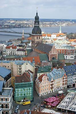 Old Riga City Roofs Art Print by Aleksandr Volkov