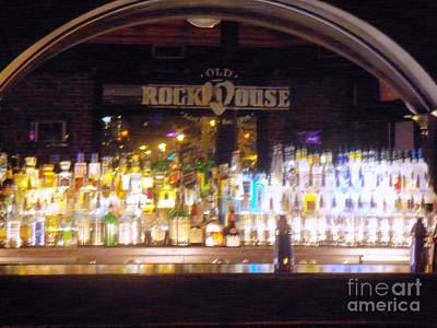 Art Print featuring the photograph Old Rock House Bar by Kelly Awad