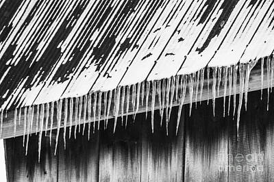 Photograph - Old Roof And Ice by JT Lewis