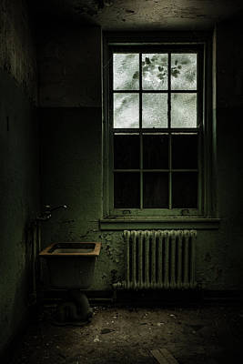Old Room - Abandoned Asylum - The Presence Outside Art Print by Gary Heller