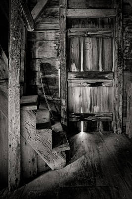 Photograph - Old Room - Rustic - Inside The Windmill by Gary Heller