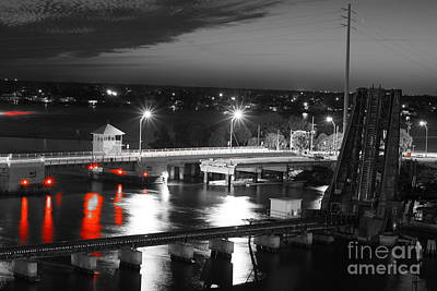 Photograph - Old Roosevelt Bridge And Comet Pan-starrs by Lynda Dawson-Youngclaus