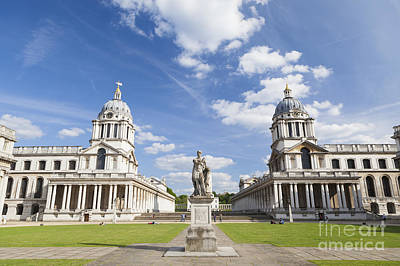 Old Royal Naval College In Greenwich Art Print by Roberto Morgenthaler