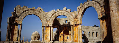 Aleppo Photograph - Old Ruins Of A Church, St. Simeon by Panoramic Images