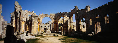 Old Ruins Of A Church, St. Simeon The Art Print by Panoramic Images