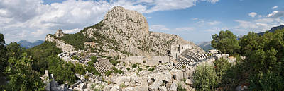 Ancient Civilization Photograph - Old Ruins Of An Amphitheater by Panoramic Images