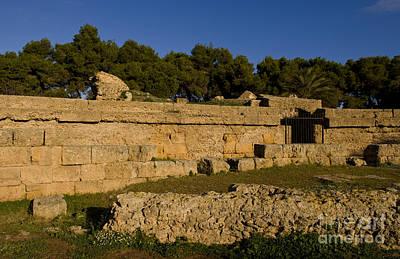 Old Ruins Of Roman Amphitheater, Tunisia Art Print