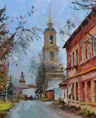 Old Town Digital Art - old Russian Town by Yury Malkov