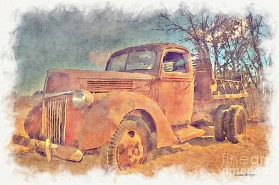 Photograph - Old Rusted V8 Work Truck by Liane Wright