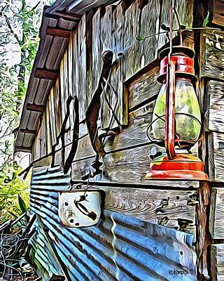 Old Rustic Building - Aunt Tinys Shed  Art Print by Rebecca Korpita
