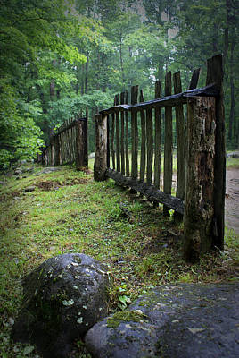 Old Rustic Fence Art Print by Larry Bohlin