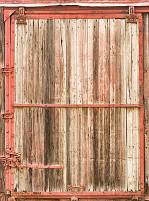Photograph - Old Rustic Railroad Train Car Door by James BO Insogna