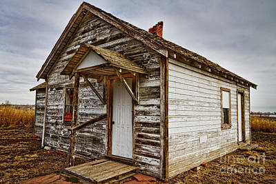 Old Rustic Rural Country Farm House Art Print