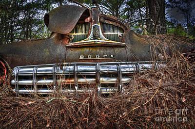 Old Rusty Dodge Art Print