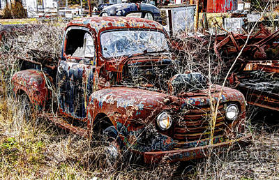 Photograph - Old Rusty Ford Truck by Paul Mashburn