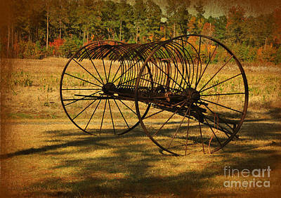 Photograph - Old Rusty Hay Rake by Kathy Baccari
