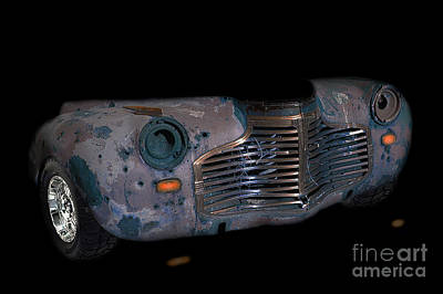 Photograph - Old Rusty Junk Car In Vivid Colors by Gunter Nezhoda