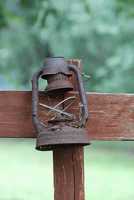 Southwest Painting - Old Rusty Lantern II by GD Rankin