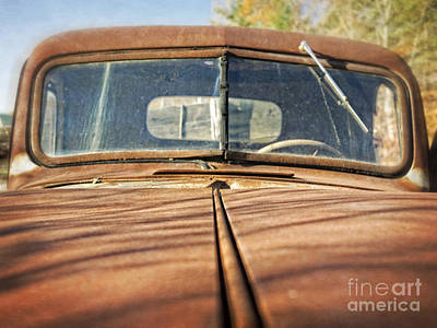 Car Photograph - Old Rusty Pickup Truck by Edward Fielding