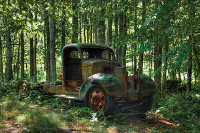 Old Trucks Photograph - Old Chevy Maple Leaf Truck On Maple Ridge by David Patterson