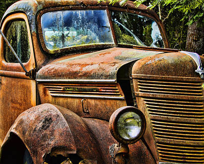Photograph - Old Rusty Truck by Ron Roberts
