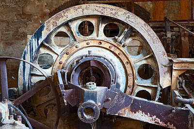 Technical Photograph - Old Rusty Vintage Industrial Machinery by Dirk Ercken