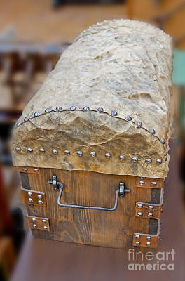 Photograph - Old Saddle Back Trunk Art Prints by Valerie Garner