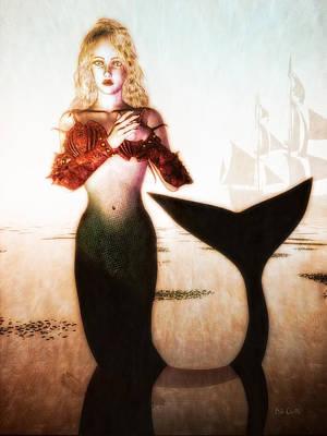 Digital Art - Old Sailors Dream - The Mermaid by Bob Orsillo