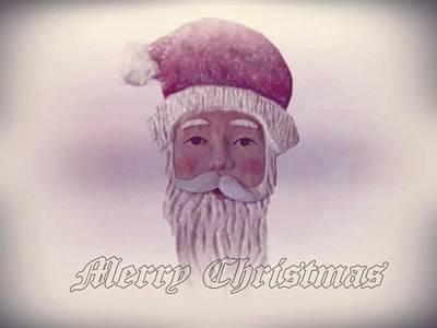 Saint Nicholas Digital Art - Old Saint Nicholas Greeting Card by David Dehner
