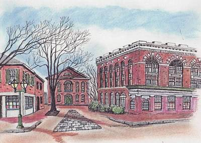 Old Salem City Hall Art Print by Paul Meinerth