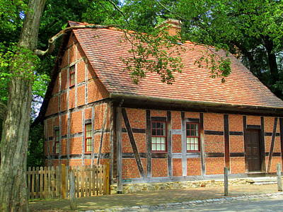 Photograph - Old Salem House Three Front by Randall Weidner
