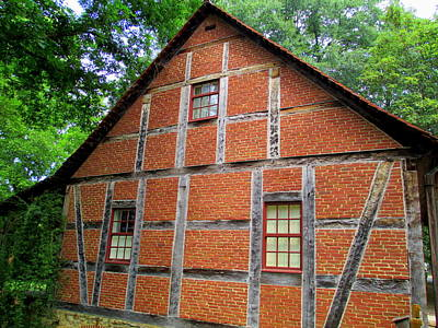 Photograph - Old Salem House Three by Randall Weidner