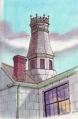 Old Salem Jail Roof Top Original by Paul Meinerth