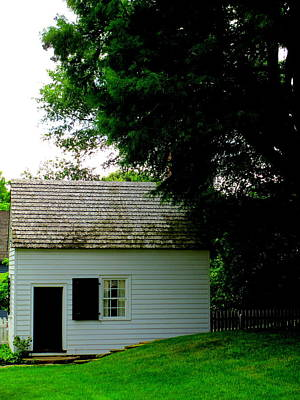 Photograph - Old Salem Out Building by Randall Weidner