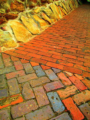 Photograph - Old Salem Sidewalk by Randall Weidner