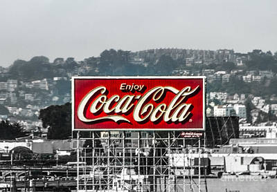 Old Coke Sign Wall Art - Photograph - Old San Francisco Coke Sign by Mitch Shindelbower