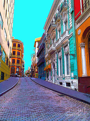Royalty-Free and Rights-Managed Images - Old San Juan by Carey Chen