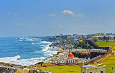 Old San Juan Coastline 2 Art Print