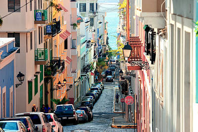 Photograph - Old San Juan Downtown by Songquan Deng