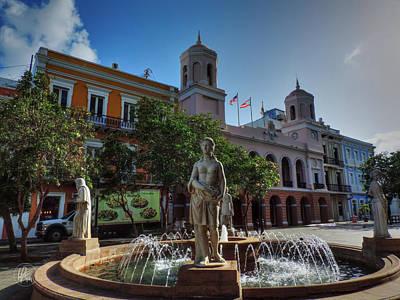 Photograph - Old San Juan - Plaza De Armas  by Lance Vaughn