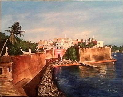 Old San Juan Puerto Rico Original by Ramon Lopez Collazo