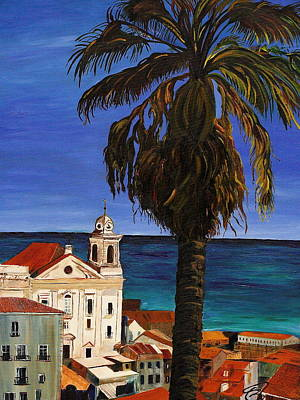 Old San Juan Ruerto Rico  Print by Impressionism Modern and Contemporary Art  By Gregory A Page