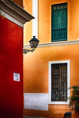 Caribbean Corner Photograph - Old San Juan Street Corner Charm by George Oze