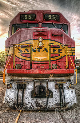 Photograph - Old Santa Fe Engine by Eddie Yerkish
