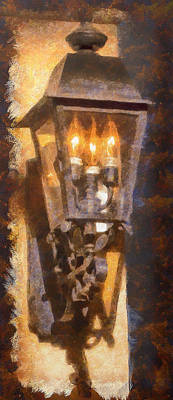 Old Santa Fe Lamp Art Print