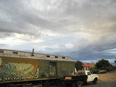 Photograph - Old Santa Fe Railyard by Kathleen Grace