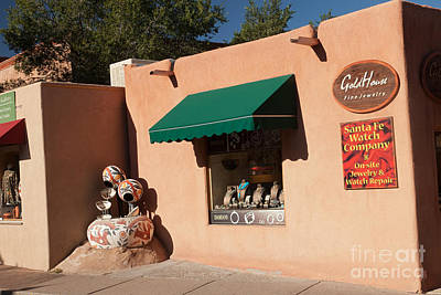 Photograph - Old Santa Fe Trail Shops by Fred Stearns